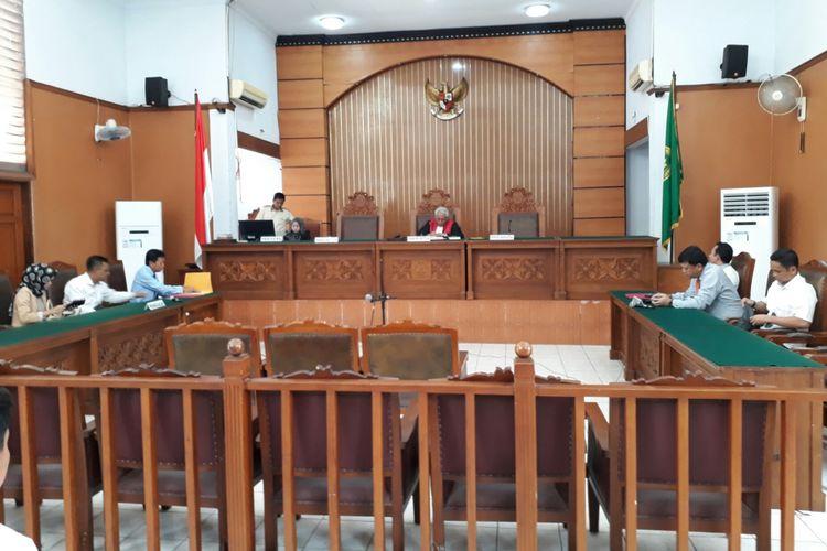 Sidang praperadilan Hary Tanoe melawan Bareskrim Polri di Pengadilan Negeri Jakarta Selatan. Selasa (11/7/2017)
