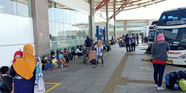 Kondisi terminal Pulogebang Rabu (23/04).