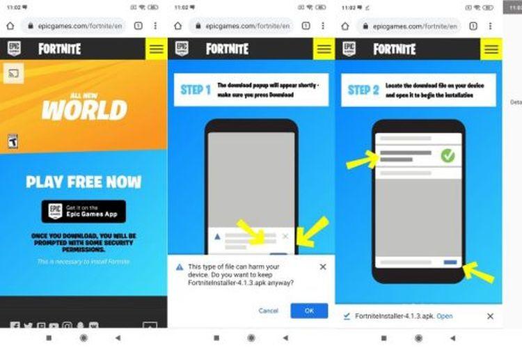 Cara mengunduh dan memasang aplikasi Epic Games pada ponsel Android