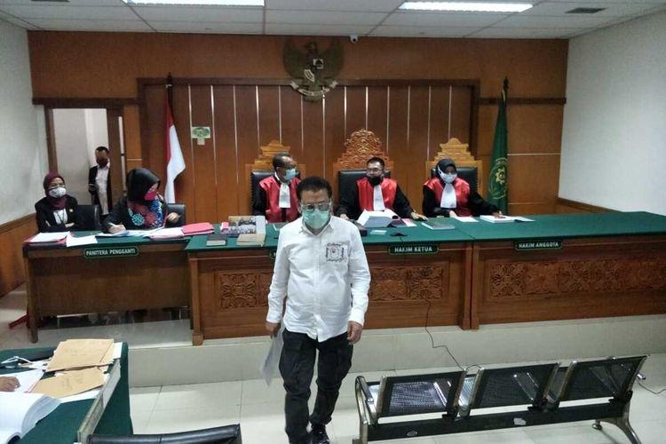 Sidang pemeriksaan saksi pembobolan rekening Ilham Bintang di Pengadinal Negeri Jakarta Barat, Rabu (8/7/2020)