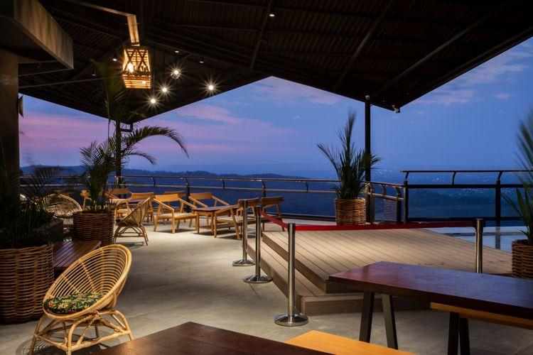 Fasilitas restoran yang ada di Heha Sky View, Gunung Kidul, Yogyakarta.