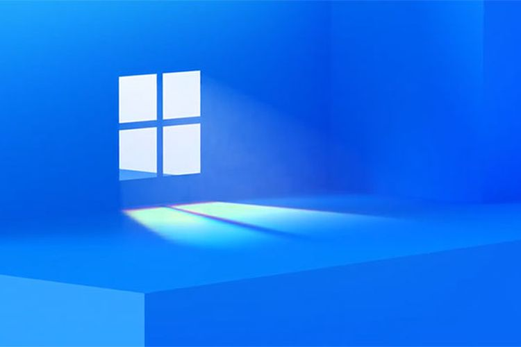 Tampilan wallpaper baru Windows yang menginsyaratkan kehadiran Windows 11.