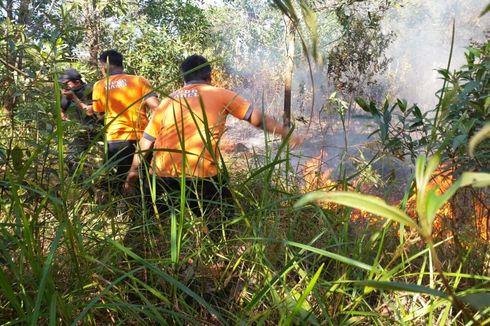 2 Hektar Lahan Dekat Bandara di Pangkalpinang Terbakar, Diduga akibat Puntung Rokok