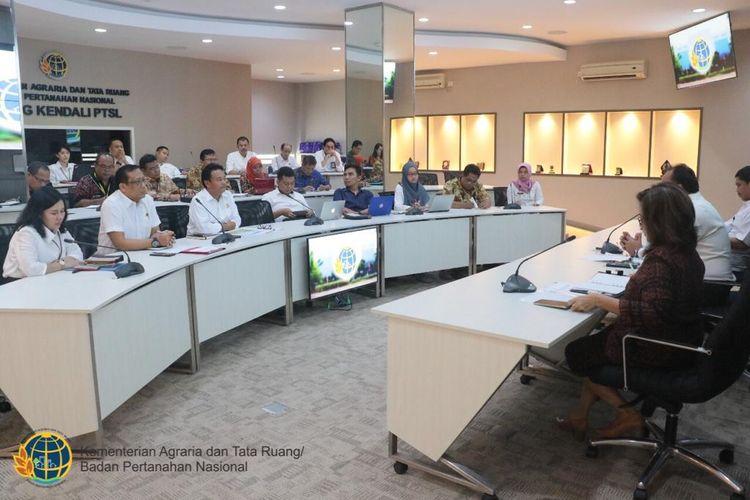 Rapat Koordinasi Tim PPKA KSP dan Kementerian ATR/BPN