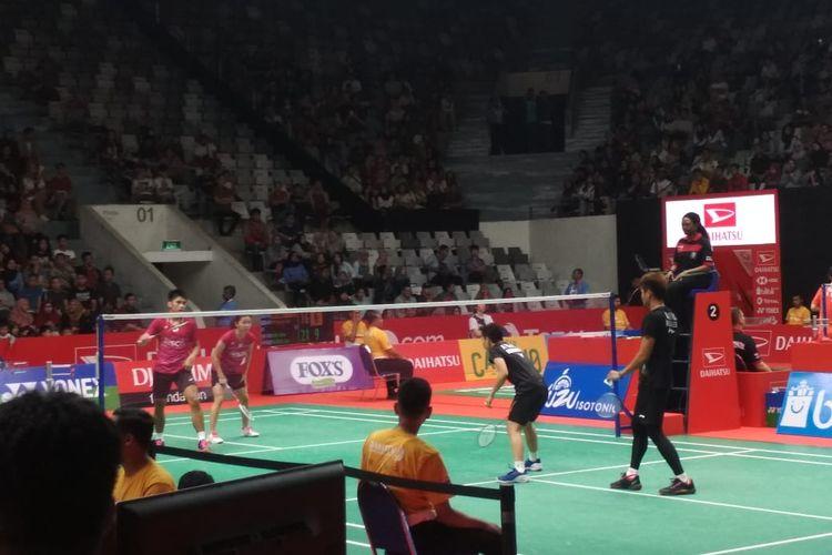 Pasangan ganda campuran Tontowi Ahmad/Apriyani Rahayu berlaga di Indonesia Masters 2020, Selasa (14/1/2020).