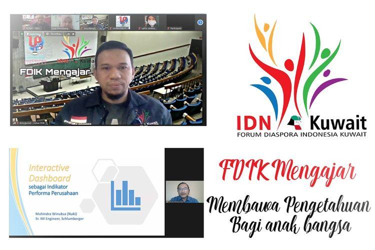 Forum Diaspora Indonesia di Kuwait (FDIK) mengadakan program mengajar, sebagai kelanjutan dari penandatanganan MOU (Memorandum of understanding) dengan Universitas Pahlawan Tuanku Tambusai di Riau.