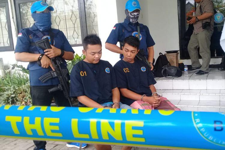 Konferensi pers pengungkapan peredaran narkotika jaringan Solo di Kantor BNNP Jawa Tengah, Jumat (2/11/2018)