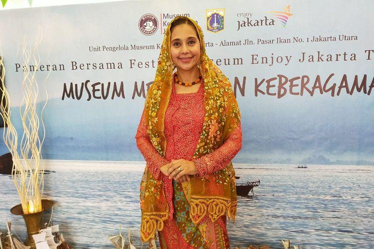 Ayu Azhari dalam acara Festival Museum Enjoy Jakarta.