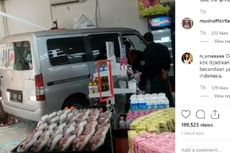 Gara-gara Pedal Gas Tersangkut, Mobil Tabrak Minimarket di Kebon Jeruk