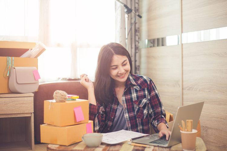 Ilustrasi pengusaha perempuan