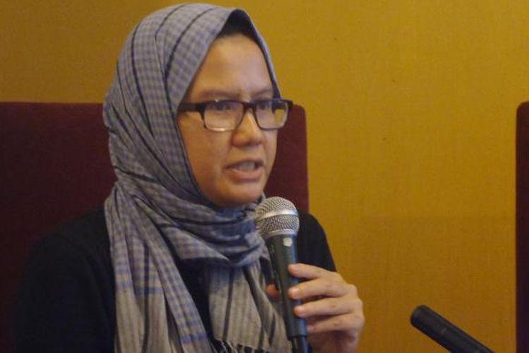 Wakil Koordinator Bidang Advokasi Kontras, Yati Andriani dalam diskusi di Jakarta, Sabtu (10/12/2016).