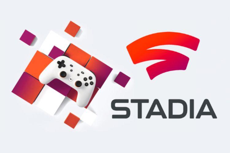 Logo dan controller layanan game streaming Google Stadia
