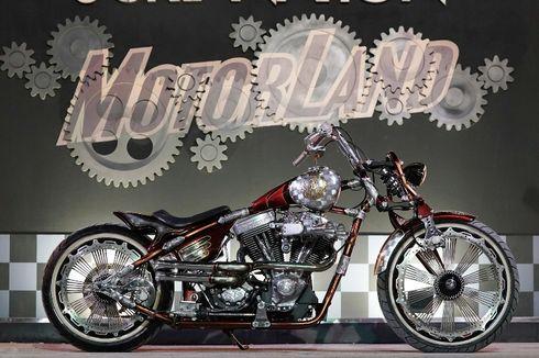 Harley Penuh Ukiran, Jadi Motor Kustom Terbaik di Makassar
