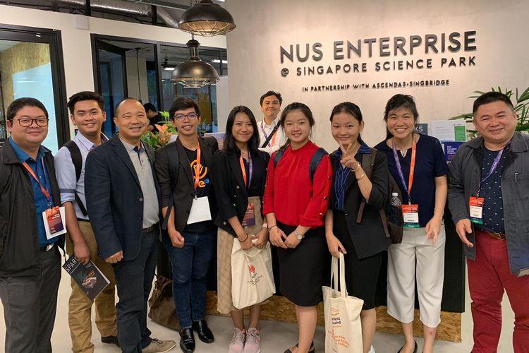 Yuni pendiri Walibu (kelima dari kiri), salah satu startup inkubasi Tech Incubator Skystar Ventures Univesitas Multimedia Nusantara (UMN) mendapatkan kesempatan sebagai salah satu startup Indonesia untuk mengikuti kegiatan ASEAN-JAIF BUSINESS MATCHING Project di Singapura (26-28/6/2019).