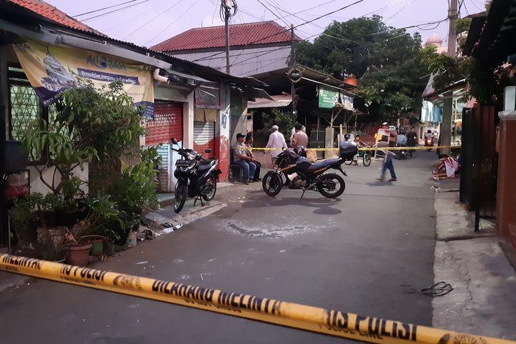 Lokasi penyiraman air keras di Kembangan Jakarta Barat, Jumat (15/11/2019)