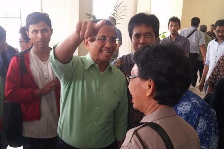 Dahlan Iskan di Pengadilan Tipikor Surabaya.