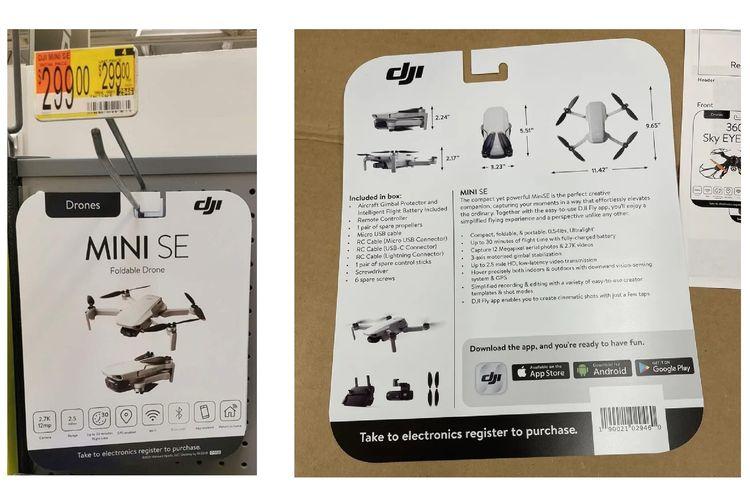 Bocoran desain drone DJI Mini SE