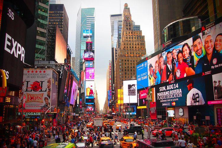 Ilustrasi Times Square, New York DOK.Pixabay.com/Ahundt