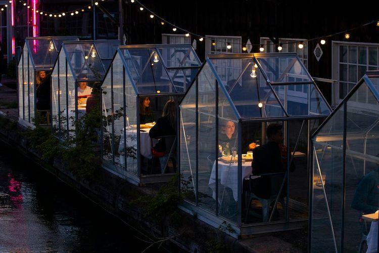 Mediamatic ETEN, tawarkan konsep restoran kaca agar bisa nongkrong selama pandemi Covid-19.