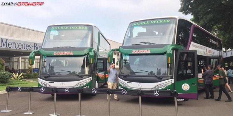 Bus Lorena dan Karina Double Decker