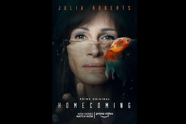 Julia Roberts dalam serial psikologi thriller Homecoming (2018).