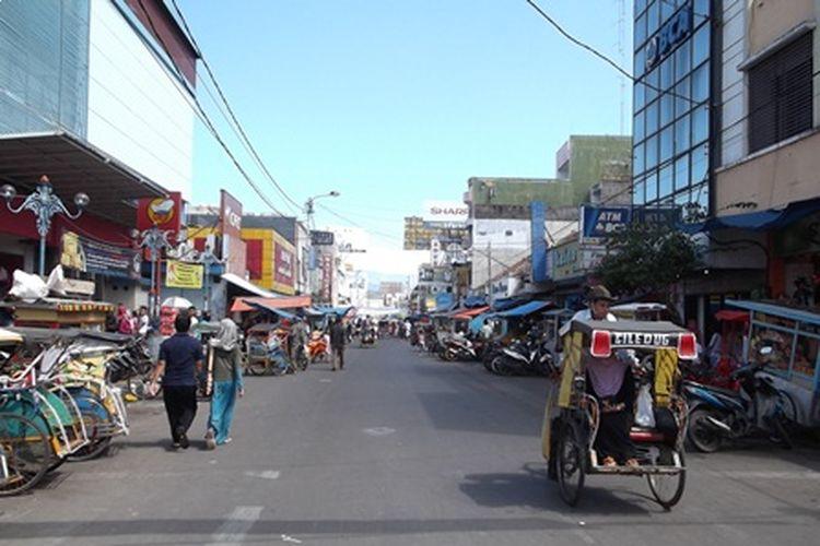 Salah satu jalan utama di Kabupaten Garut, Jawa Barat, yakni Jalan Ahmad Yani.