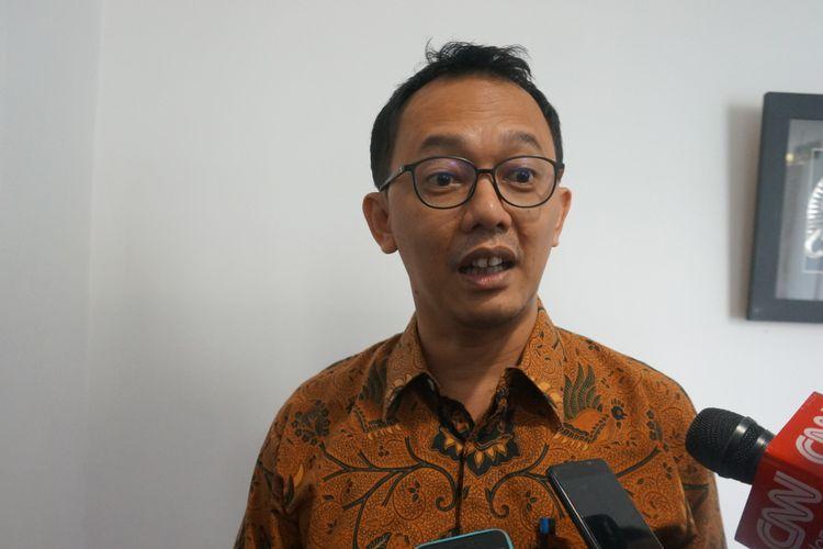Komisionee Komnas HAM Beka Ulung Hapsara di Hotel Sari Pacific, Jakarta, Selasa (29/10/2019).