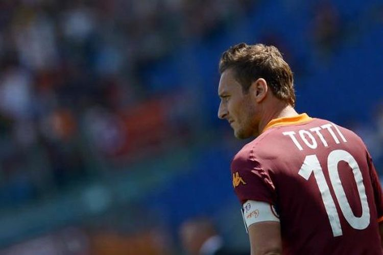 Kapten AS Roma, Fransesco Totti.