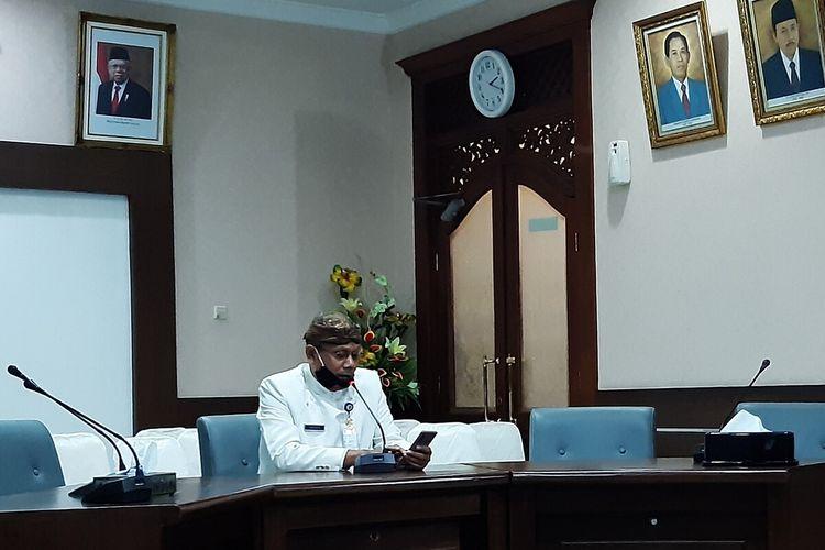Sekretaris Daerah Kota Solo yang juga Ketua Gugus Tugas Percepatan Penanganan Covid-19 Solo, Ahyani di Solo, Jawa Tengah.