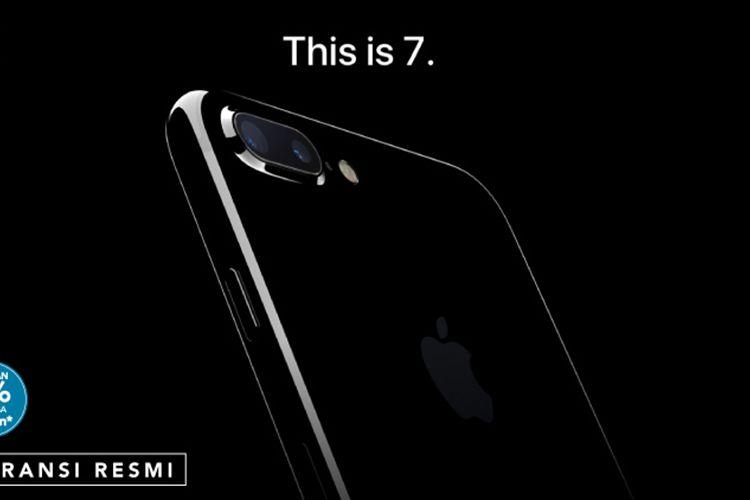 Gambar iPhone 7 di situs pre-order Blibli
