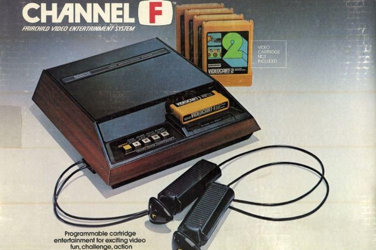 Konsol game Channel F yang dibekali dengan sistem cartridge pertama di dunia.