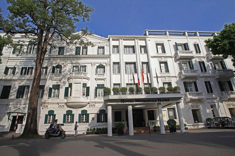 Ilustrasi Hotel Metropole di Hanoi, Vietnam.