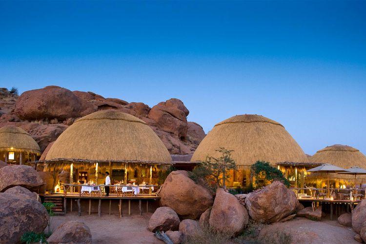 Ilustrasi resort di Namibia