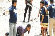 Ratusan Polisi Jaga Rekonstruksi Penikaman 2 Pegawai Pajak di Gunungsitoli
