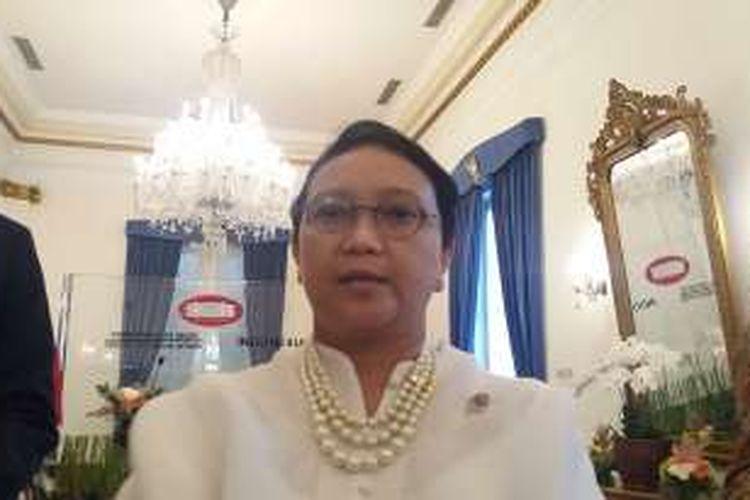 Menteri Luar Negeri Retno Marsudi di Kantor Kementerian Luar Negeri, Jakarta Pusat, Kamis (24/3/2016)