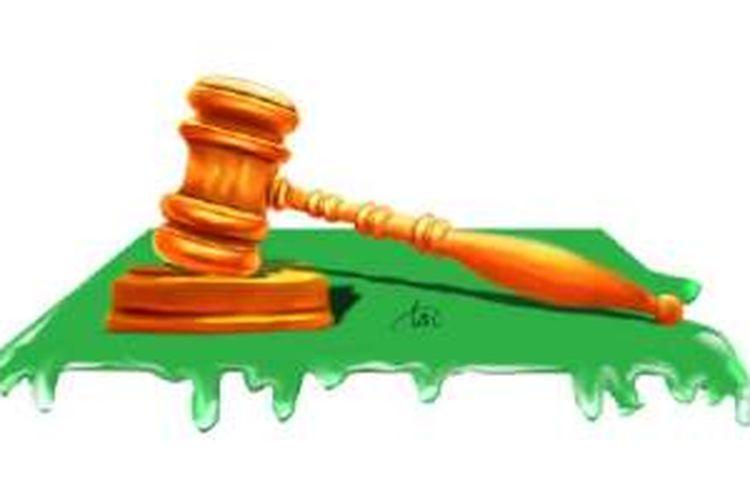 Ilustrasi pengadilan dan persidangan
