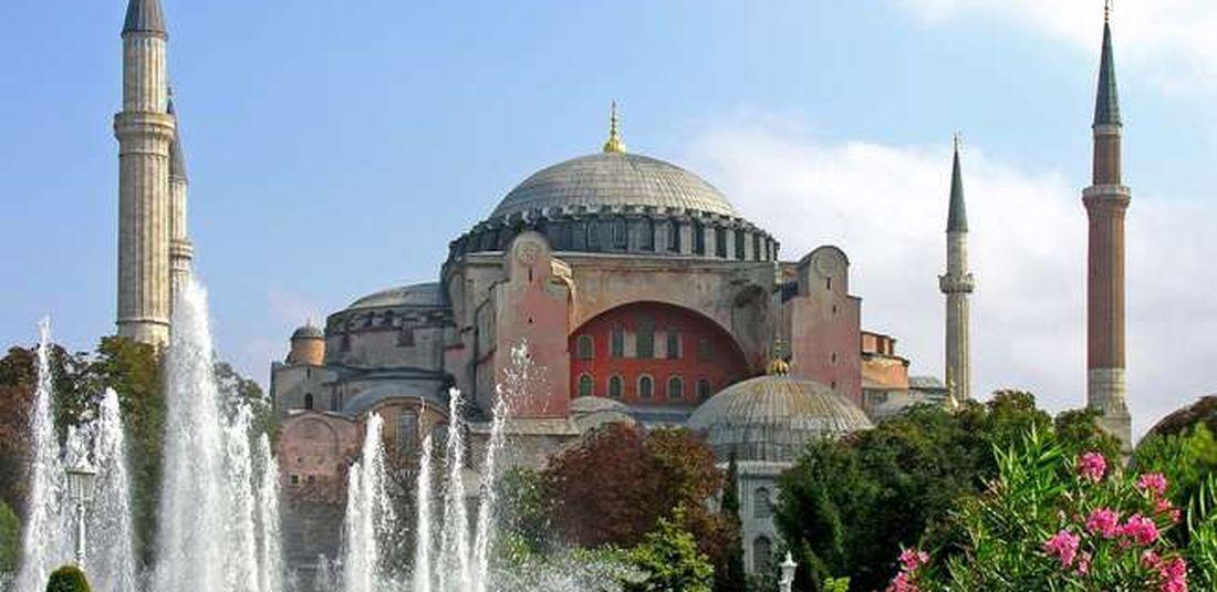 Hagia Sophia di Istanbul, Turki.