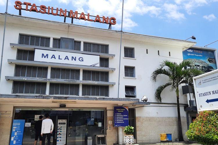 Suasana Stasiun Malang pada Jumat (19/3/2021)