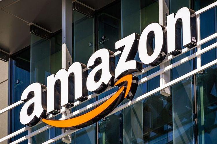 Ilustrasi logo Amazon.