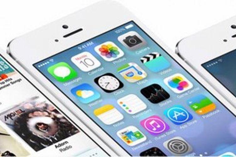 Ilustrasi sistem operasi iOS7