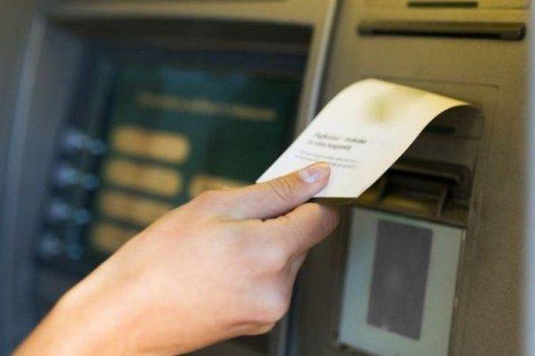 Ilustrasi setruk ATM.