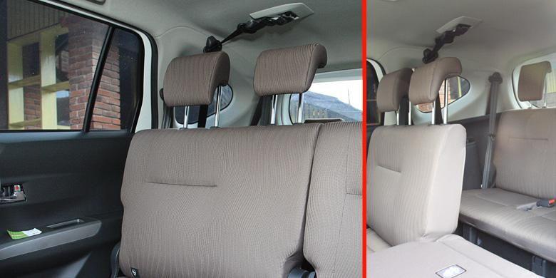 Setiap penumpang di kabin Toyota Calya dilengkapi dengan sabuk pengaman tiga titik.