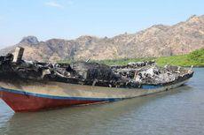 Kapal Ikan Dinas Perikanan Kabupaten TTU Seharga Rp 500 Juta Terbakar