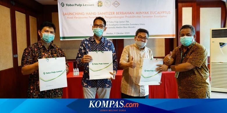 INRU Toba Pulp Lestari dan USU Luncurkan Hand Sanitizer Berbahan Eucalyptus