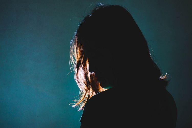 Ilustrasi wanita depresi