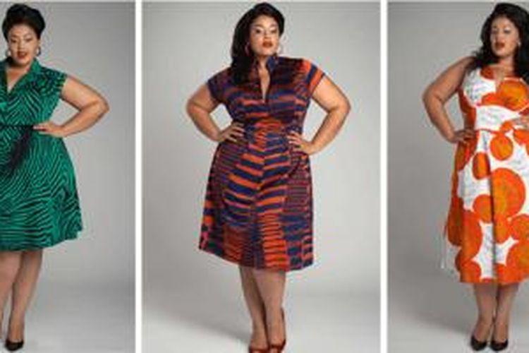 Miller menggunakan motif besar dan warna busana yang cerah dalam desain gaun-gaunnya.