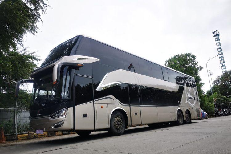 Bus tingkat yang akan diekpor ke Bangladesh