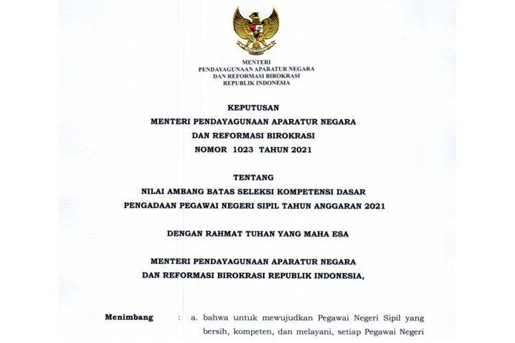 Daftar Kementerian Dan Lembaga Yang Sudah Rilis Jadwal Skd Cpns 2021 Halaman All Kompas Com