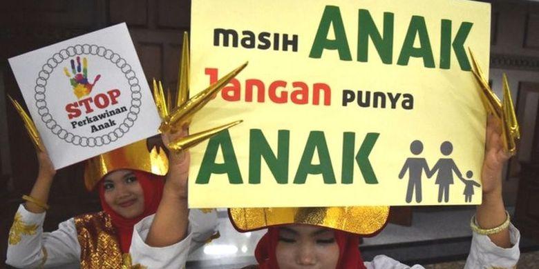 Foto ilustrasi: Kampanye Stop Perkawinan Anak.