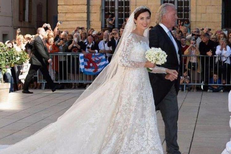 Putri Claire dari Luxemburg saat menikah di tahun 2013